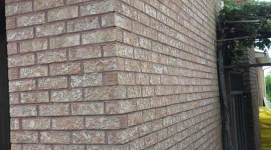 Brick house repaired by Mace Masonry